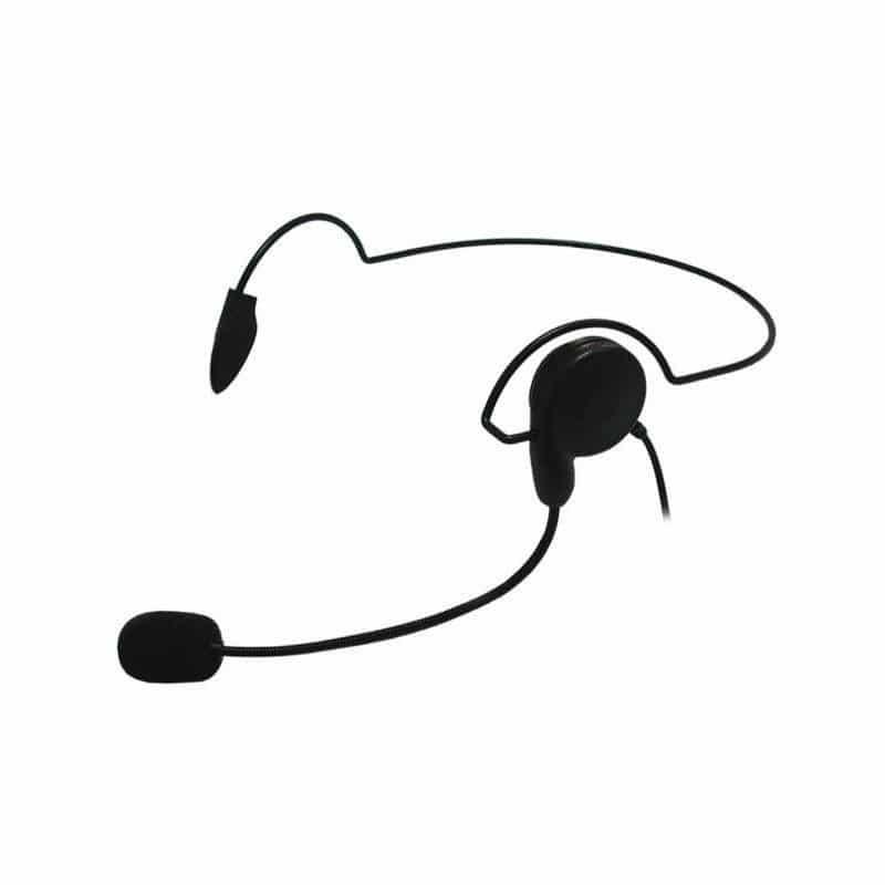 Kenwood TK-Series [2 Pin] Breeze Style Headset, Single Spkr, Mini PTT