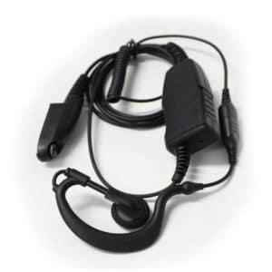 Simoco SDP750/760 C Shape Earpiece With Inline Mic/PTT