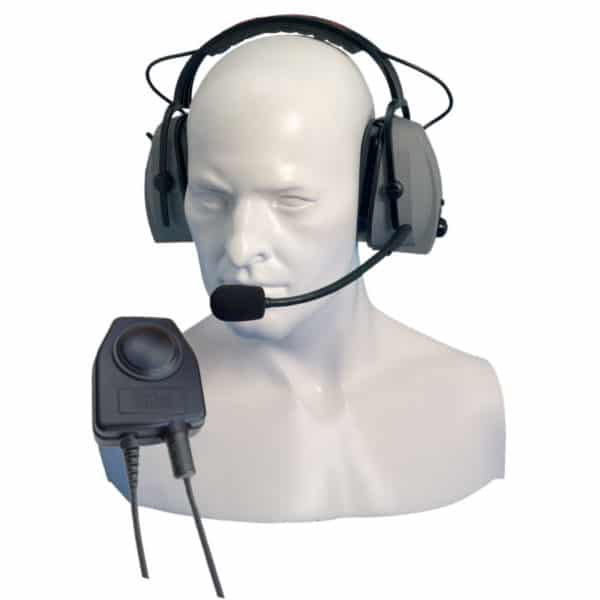 Entel DX4 Series Double Ear Cup Headband Headset & Large PTT