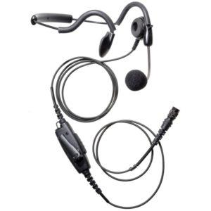 ICOM IC-F 2 Pin Side & Lock Screws Behind Head Lightweight Headset - Hirose Connector