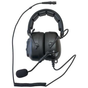 Kenwood TK Series H/Duty Over Head Headset - Hirose Connector