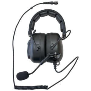 Kenwood TK Series Multipin H/Duty Overhead Headset - Hirose Connector