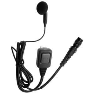 Motorola CP/GP Series Earbud Earpiece & Inline Mic/PTT - Hirose Connector