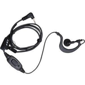 Hytera TC-320 C Style Earpiece, Inline PTT/Microphone - Black