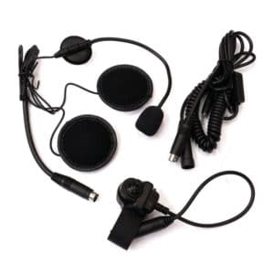 Maxon SL25/SL55 Open Face Motorcycle Headset With PTT
