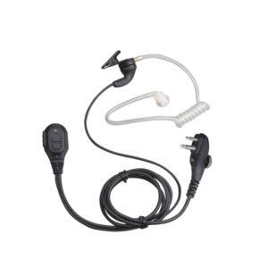 HYT TC-518/TC-700 Earpiece, In-Line PTT, Clear Acoustic Tube & Vol Ctrl