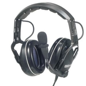 Kenwood TK-3140 CC Passive Headset, PTT In Cup -Coiled Lead