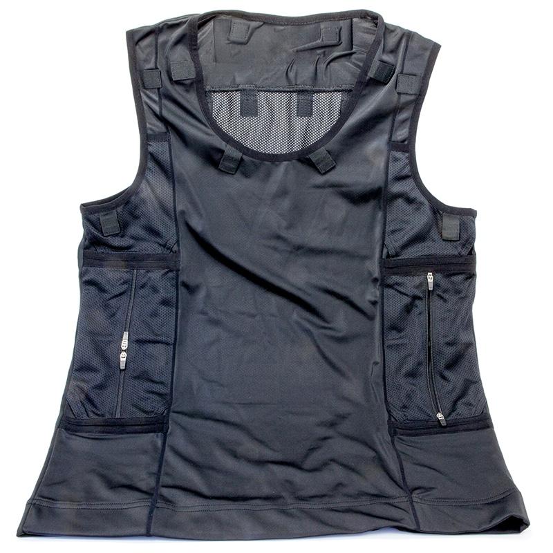 Full vest harness in black (radio pocket right hand side)