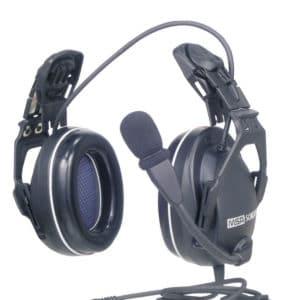 Motorola CP040 CC CutOff Helmet Mount H/set, PTT In Cup -Coil Cord