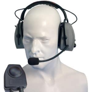 Entel HT Series 2.0 Double Earpiece Ear Defender & PTT/VOX