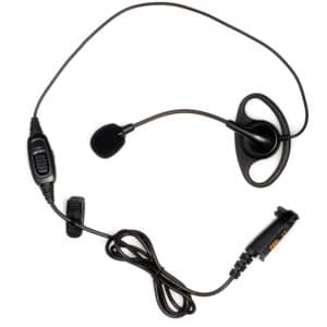 HYT TC-780/TC-3000 D-Shape Earpiece, Boom Mic, PTT & Vol Control