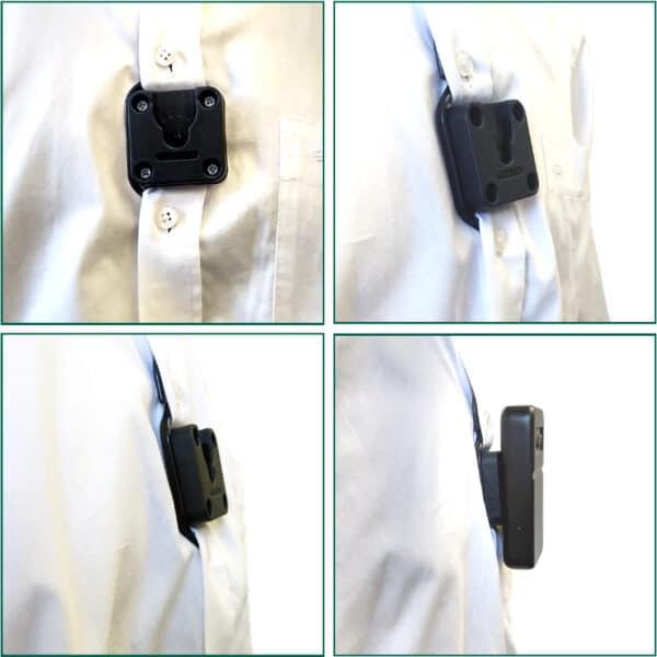 Klick Fast Button Dock On Shirt